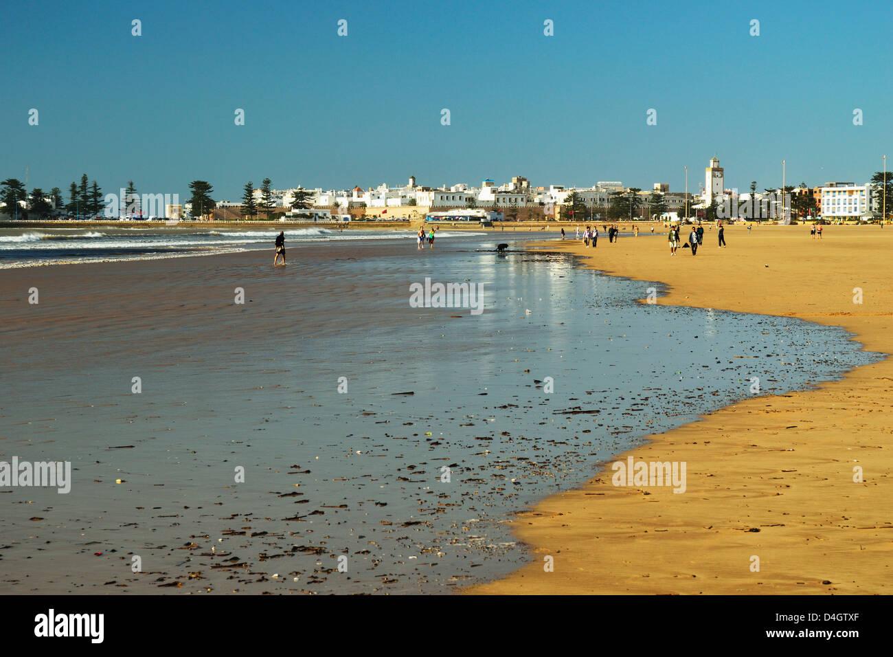 View of Essaouira, Atlantic Coast, Morocco, North Africa - Stock Image