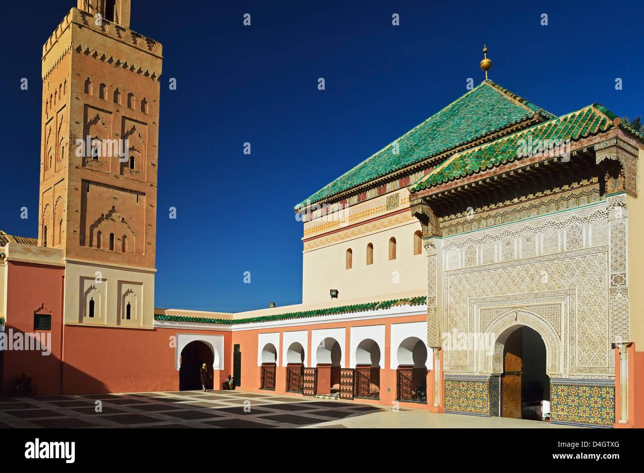 Zaouia Sidi Bel Abbes, Medina, Marrakesh, Morocco, North Africa Stock Photo