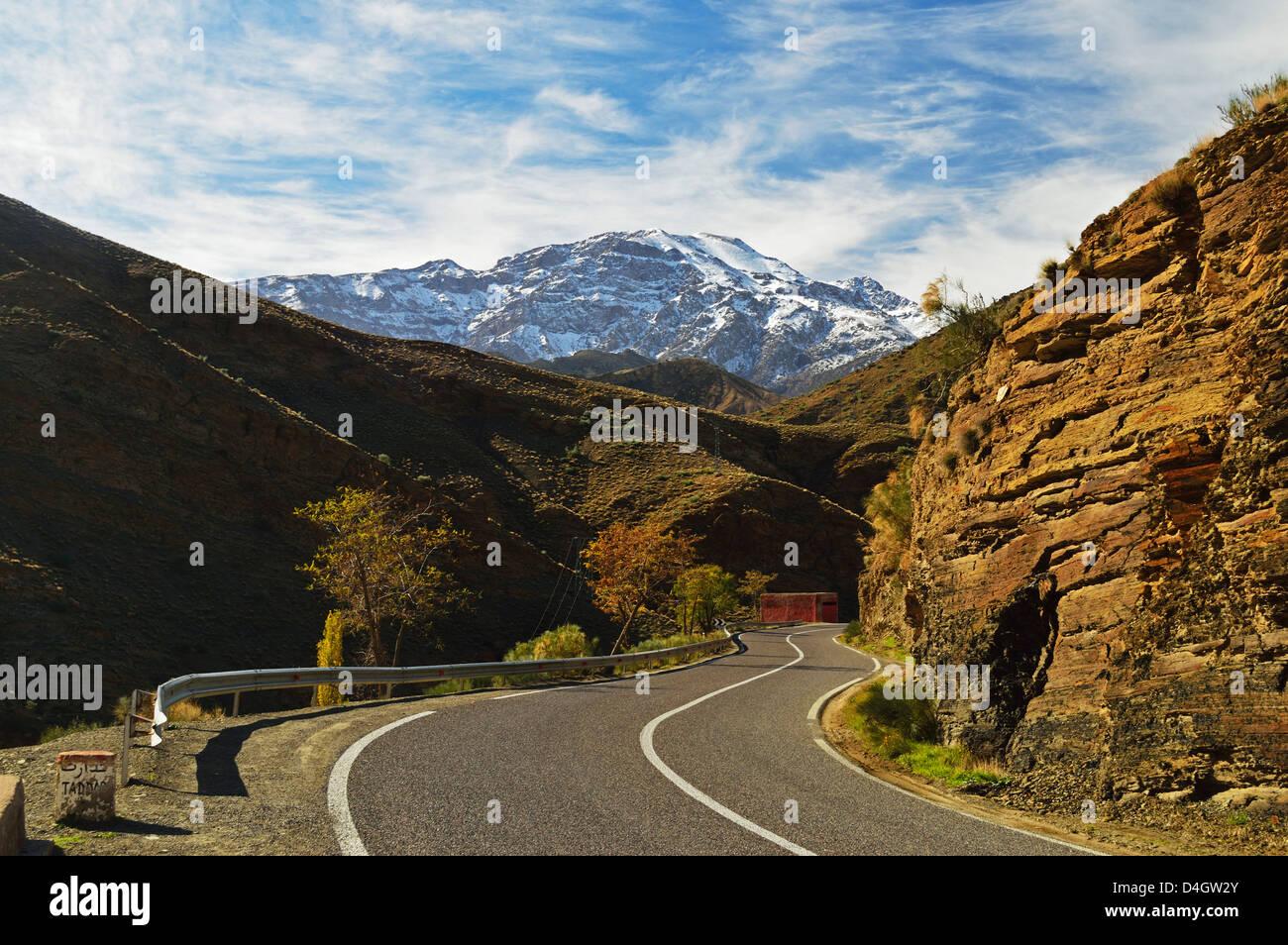 Tizi n'Tichka Pass, High Atlas, Morocco, North Africa - Stock Image