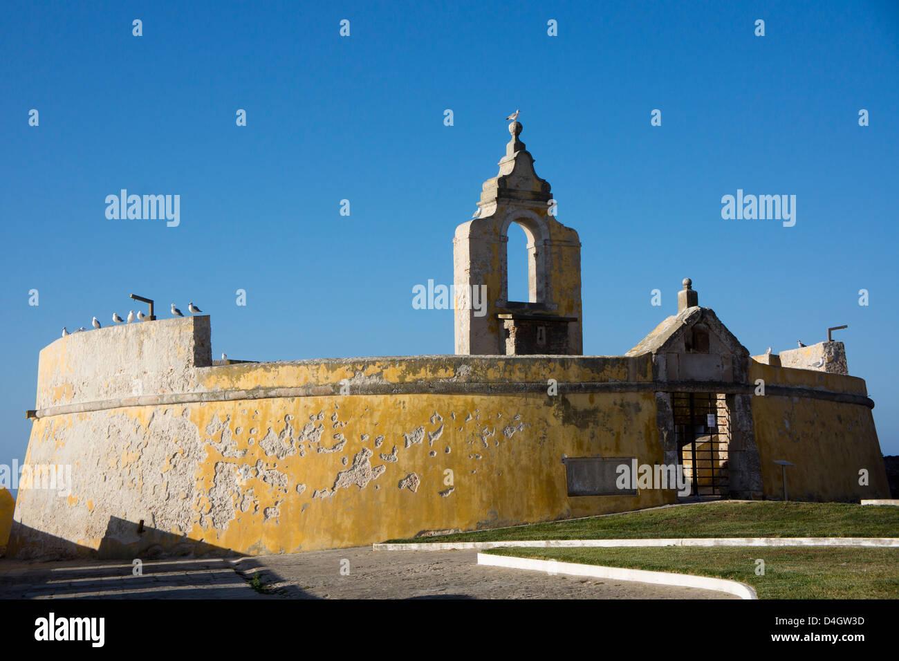 The 16th century fort at Peniche, Centro, Portugal - Stock Image
