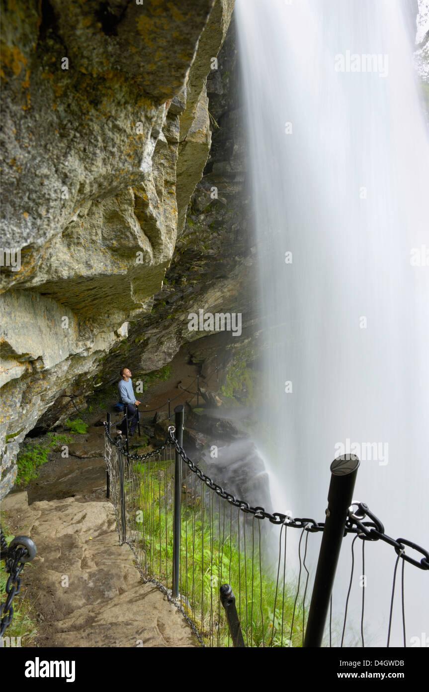 Storsaeterfossen waterfall, near Geiranger, More og Romsdal, Norway, Scandinavia - Stock Image
