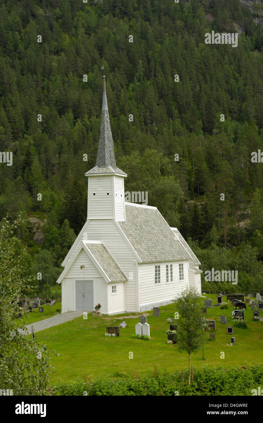 Jostedal church, Sogn og Fjordane, Norway, Scandinavia - Stock Image