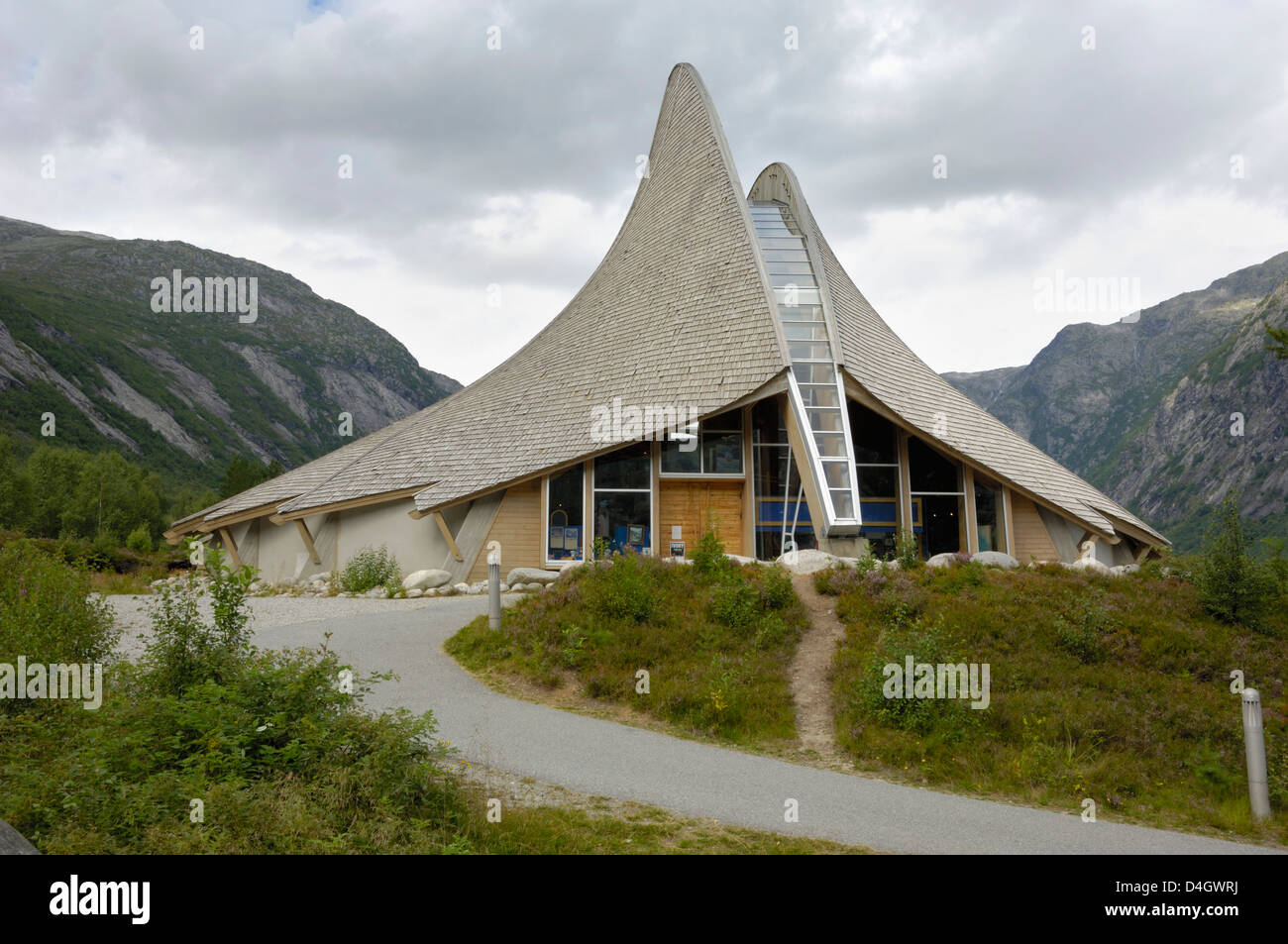 Jostedal Glacier Visitors Center, Jostedal, Sogn og Fjordane, Norway, Scandinavia - Stock Image