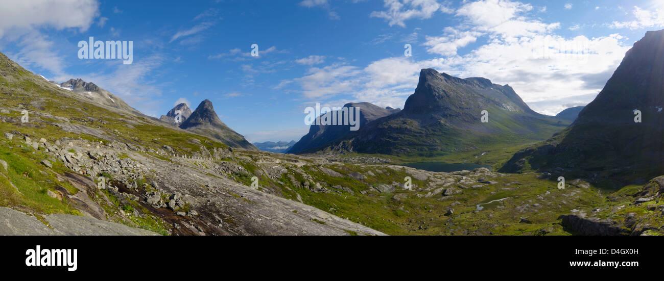Mountains near Trollstigen, More og Romsdal, Norway, Scandinavia - Stock Image