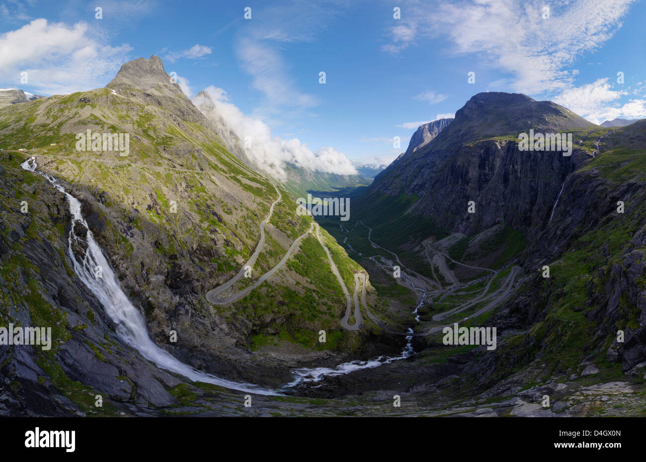 View from Trollstigen viewpoint, More og Romsdal, Norway, Scandinavia - Stock Image