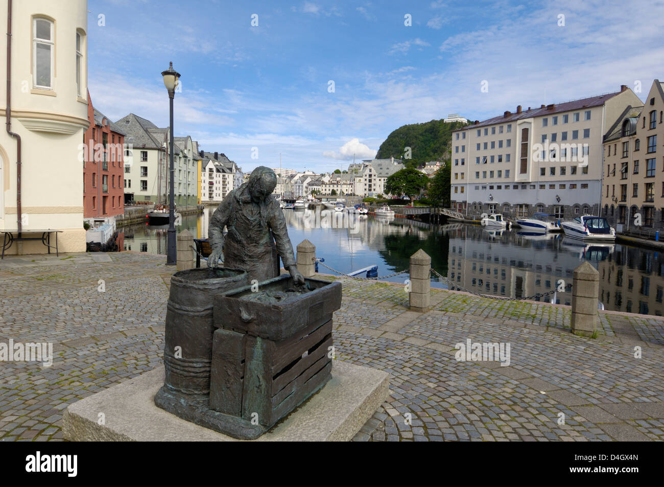 Alesund, More og Romsdal, Norway, Scandinavia - Stock Image