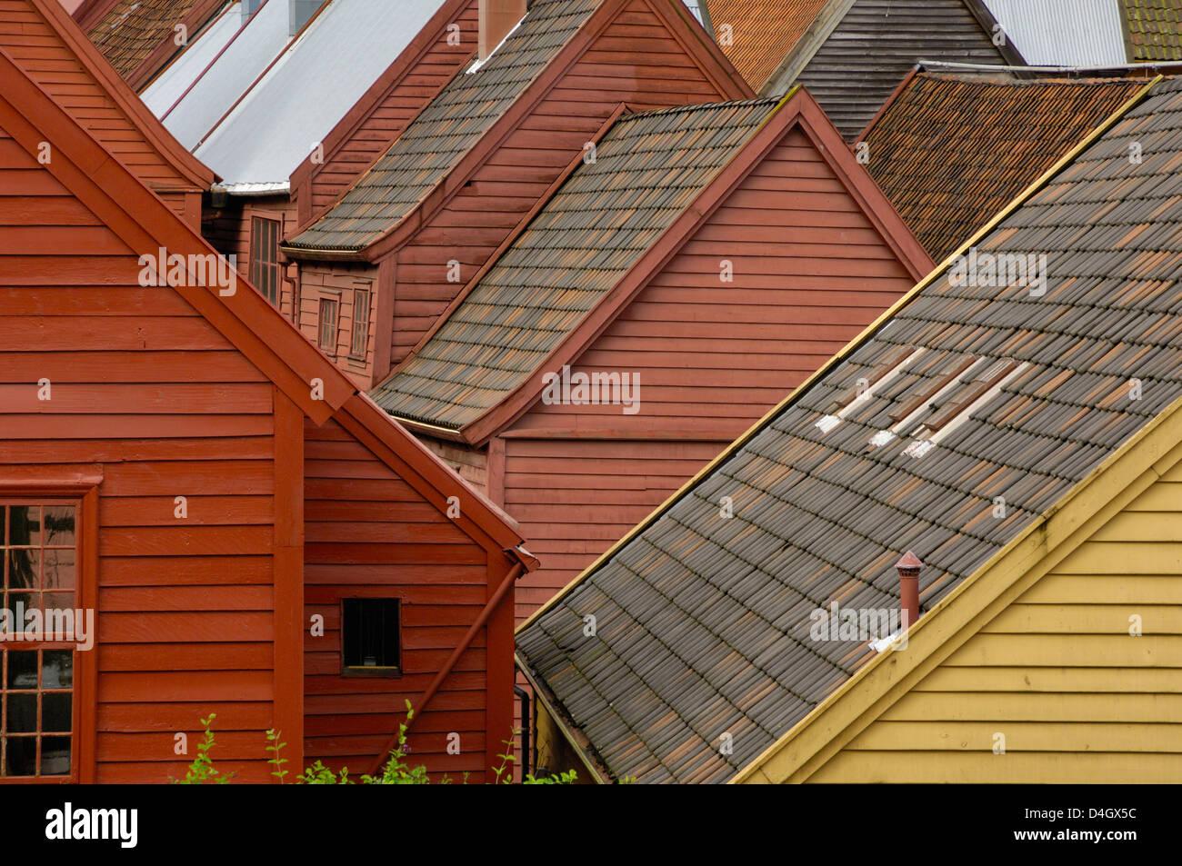Bryggen, Bergen, UNESCO World Heritage Site, Hordaland, Norway, Scandinavia - Stock Image