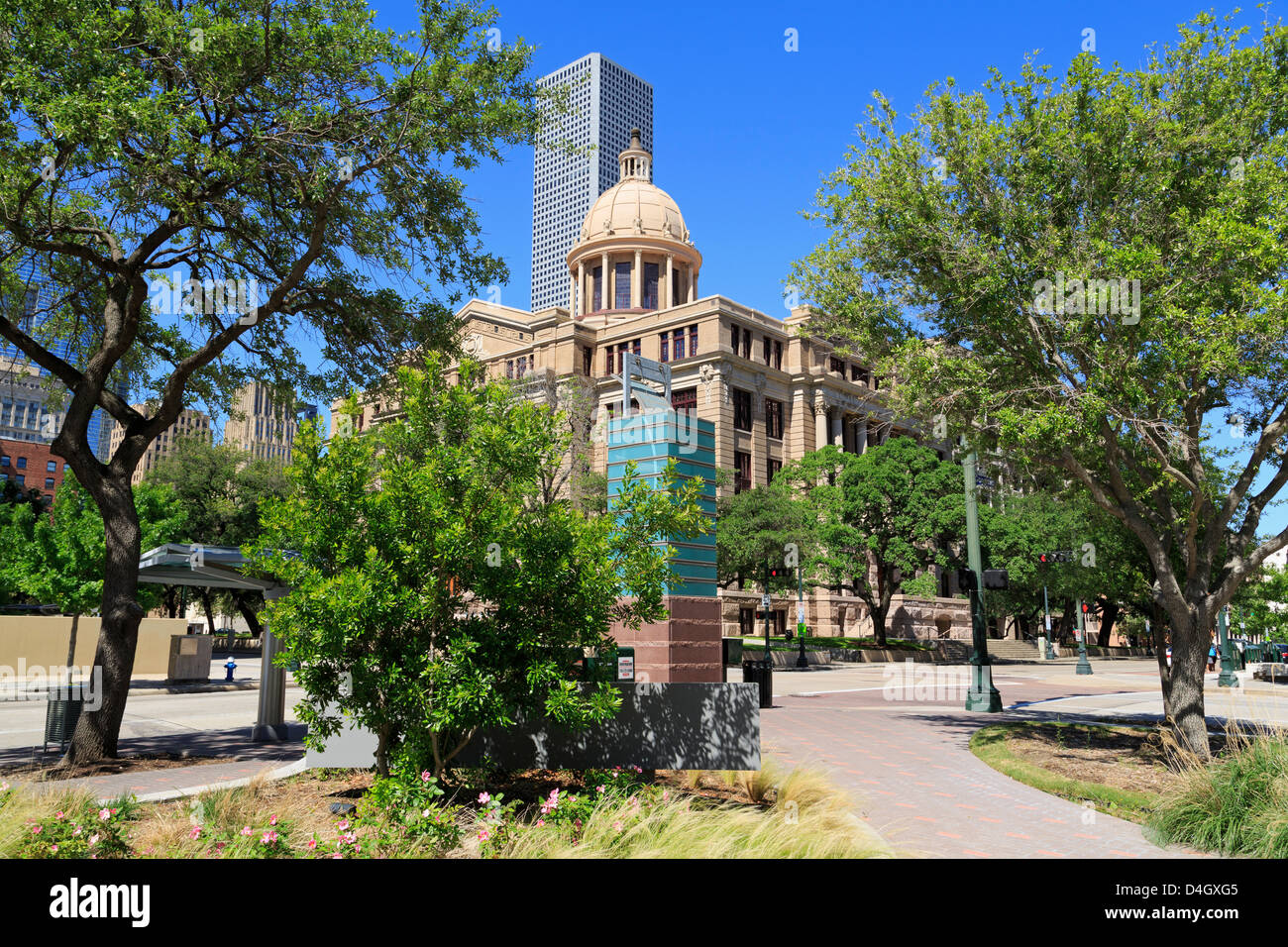 Harris County 1910 Courthouse, Houston,Texas, USA - Stock Image