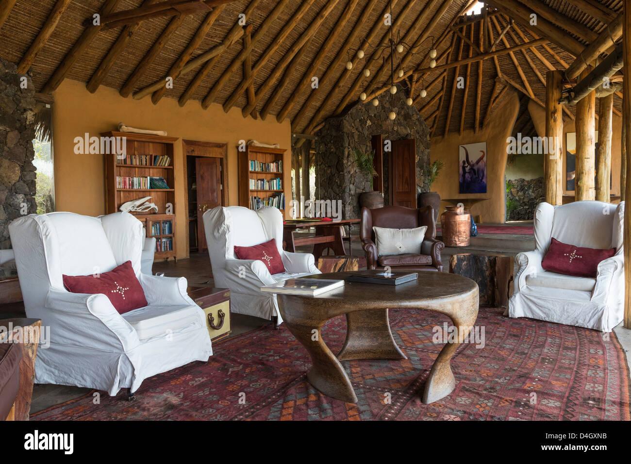 Ol Donyo Wuas Lodge, Chyulu Hills, Kenya, East Africa - Stock Image