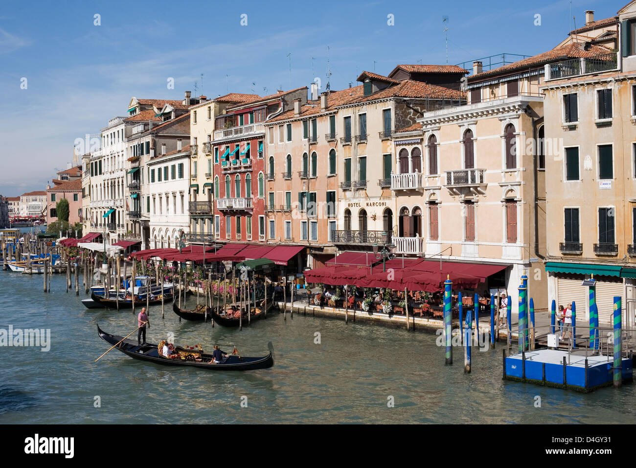 View of the Grand Canal from the Rialto Bridge, Venice, UNESCO World Heritage Site, Veneto, Italy Stock Photo