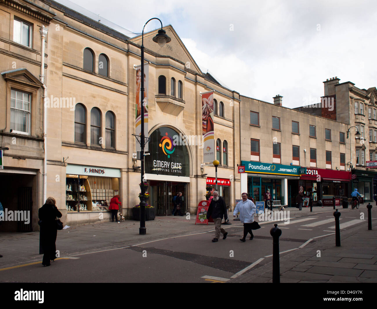 Chippenham, in Wiltshire England UK The Emery Gate shopping center. - Stock Image