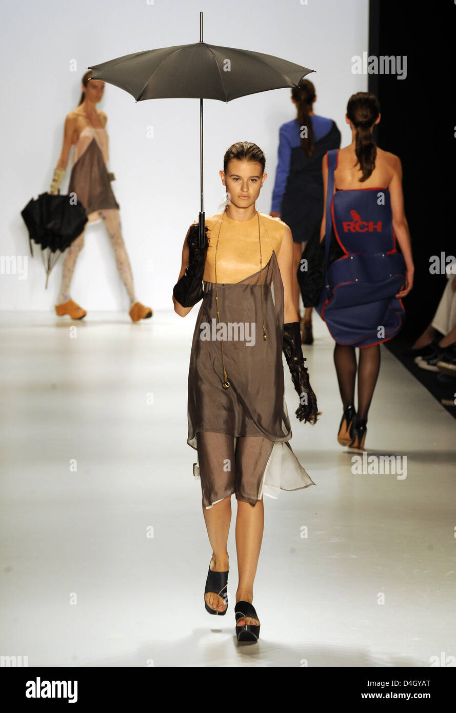 Models Present Fashion Of The Berlin University Of The Arts Udk Stock Photo Alamy