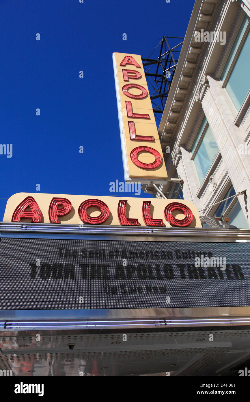 Apollo Theater, 125th Street, Harlem, Manhattan, New York City, USA - Stock Image