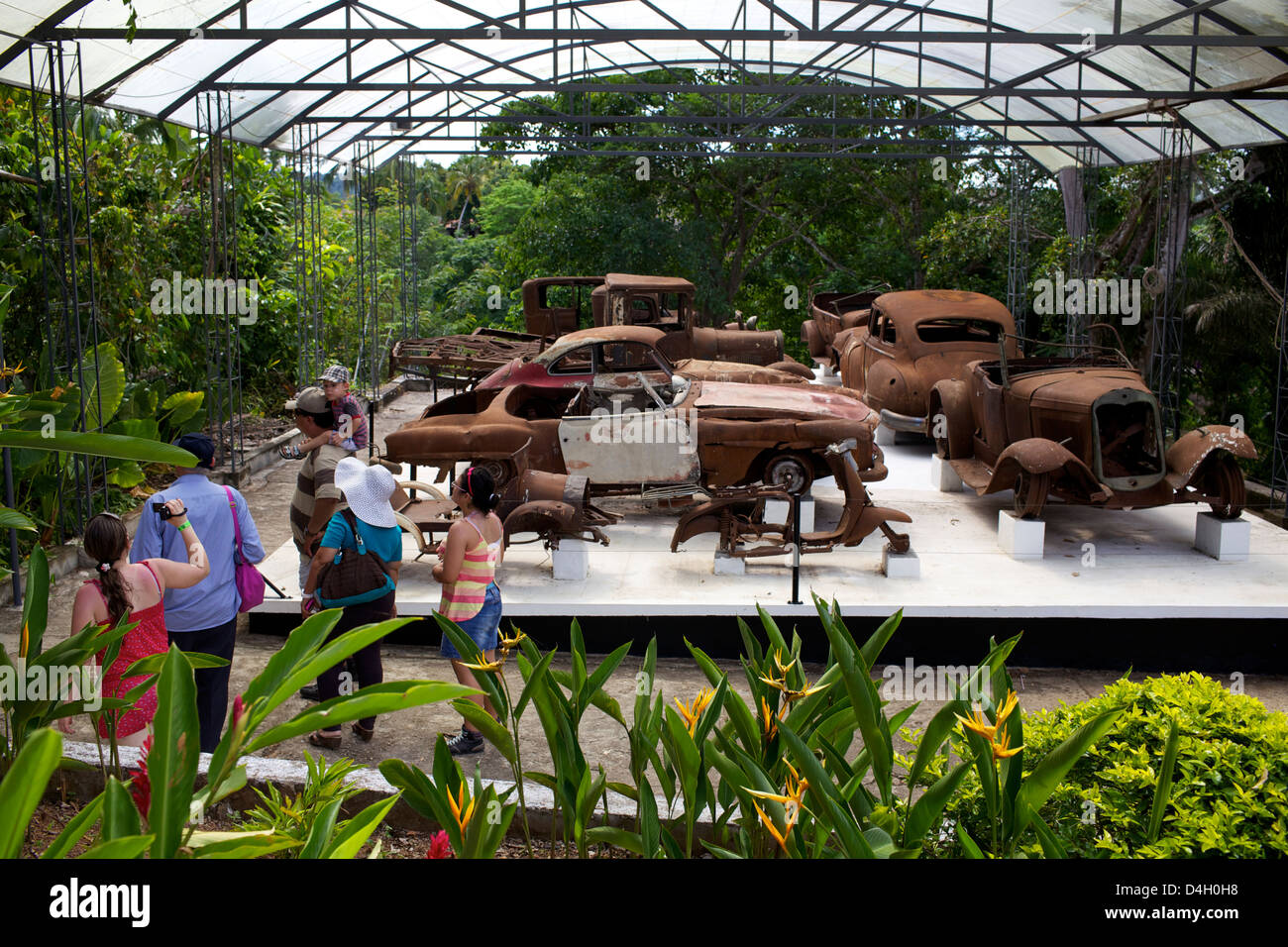 The collection of cars of Pablo Escobar, Ranch Napoles, Medellin, Colombia, South America - Stock Image