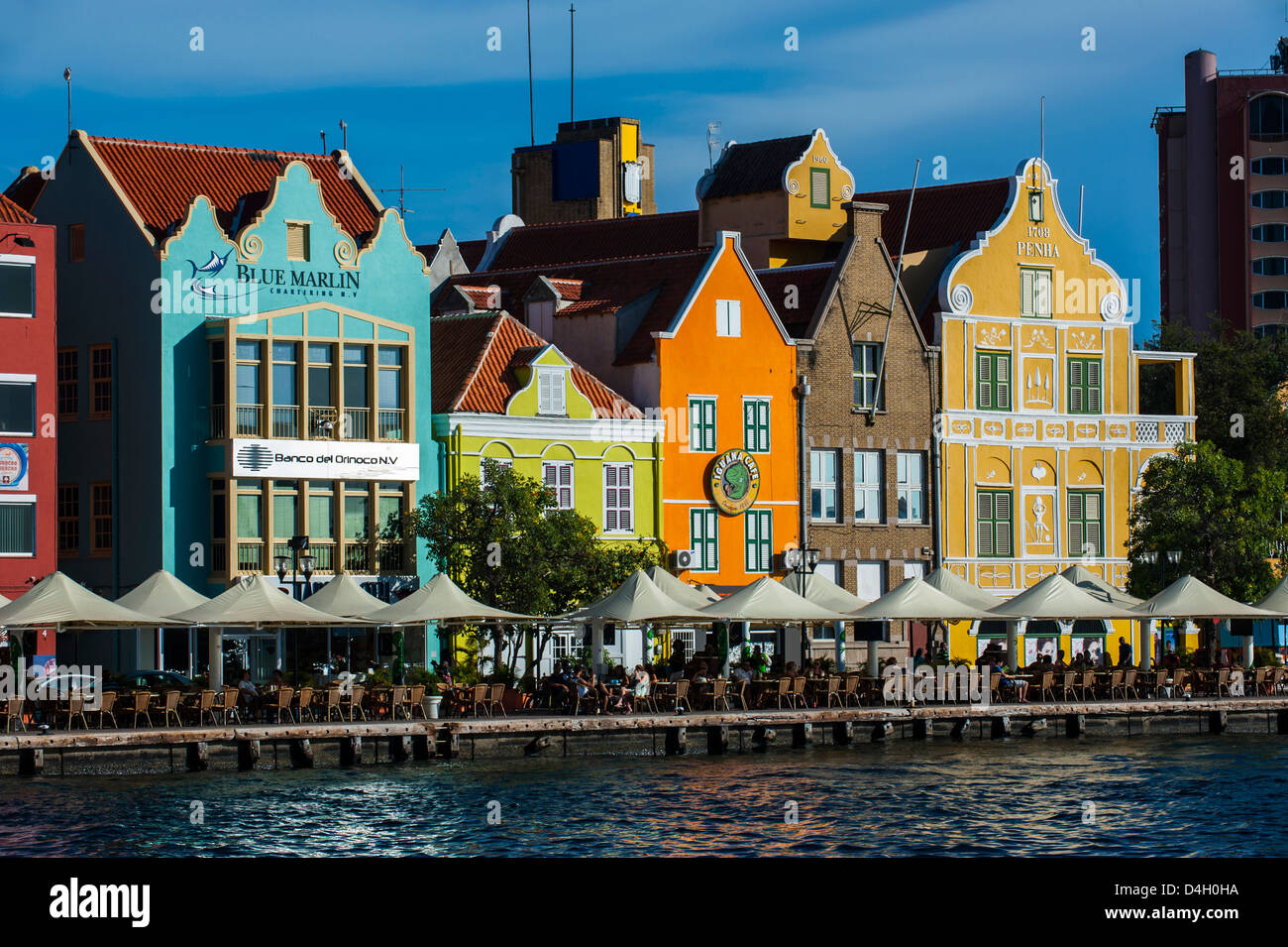 The dutch houses at the Sint Annabaai in Willemstad, UNESCO World