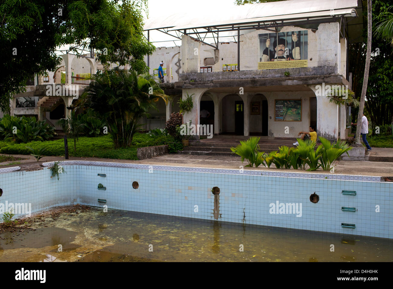 Visting the Pablo Escobar house at the Ranch Napoles, Medellin, Colombia, South America Stock Photo