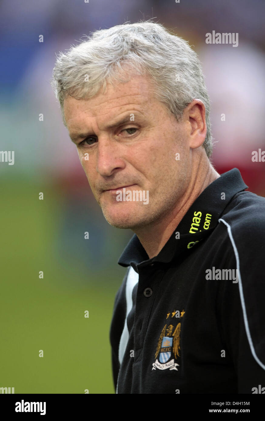 Mark Hughes, head coach of English Premiere League club Manchester City seen during the friendly against German - Stock Image