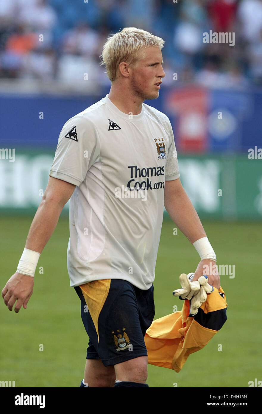 Kaspar Schmeichel, Danish goalkeeper of English Premiere League club Manchester City seen after the friendly against - Stock Image
