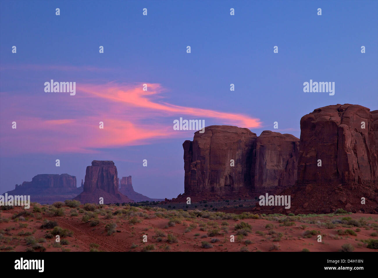 Dawn clouds over Monument Valley Navajo Tribal Park, Utah, USA - Stock Image