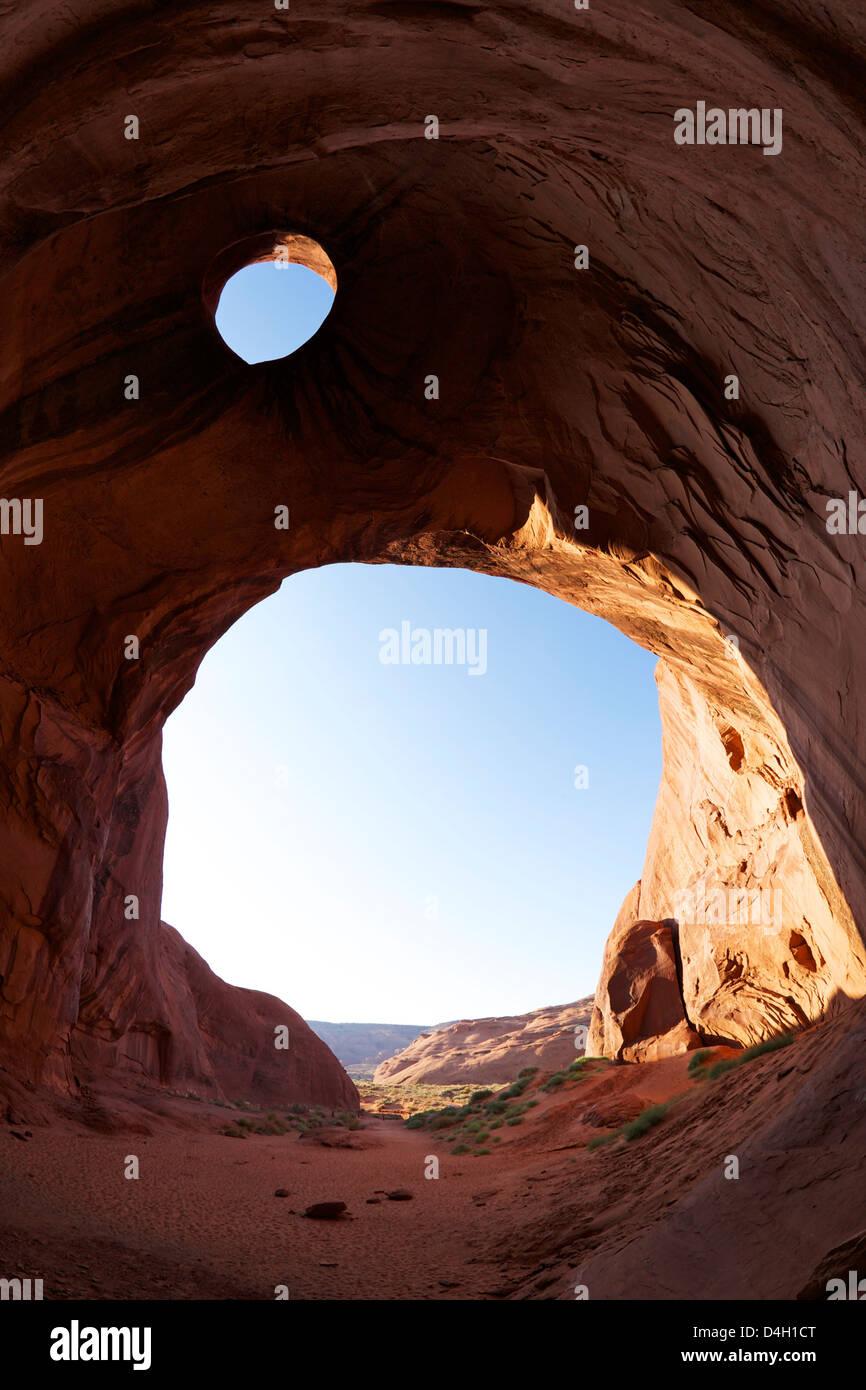 Sun's Eye, Monument Valley Navajo Tribal Park, Utah, USA - Stock Image