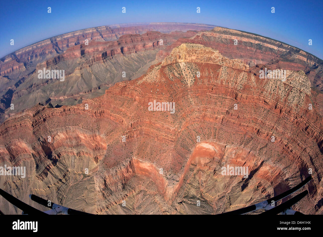 Aerial photo of Grand Canyon from Papillon Helicopter, Grand Canyon National Park, UNESCO World Heritage Site, Arizona, - Stock Image