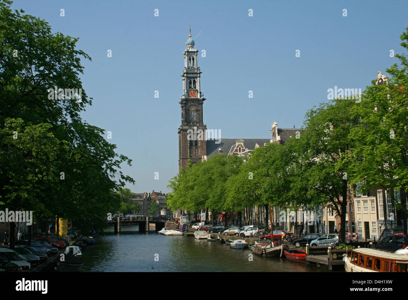 The Netherlands Holland Amsterdam Prinsengracht 279-281 Westerkerk Church 1620-1631 Architect Hendrick de Keyser - Stock Image