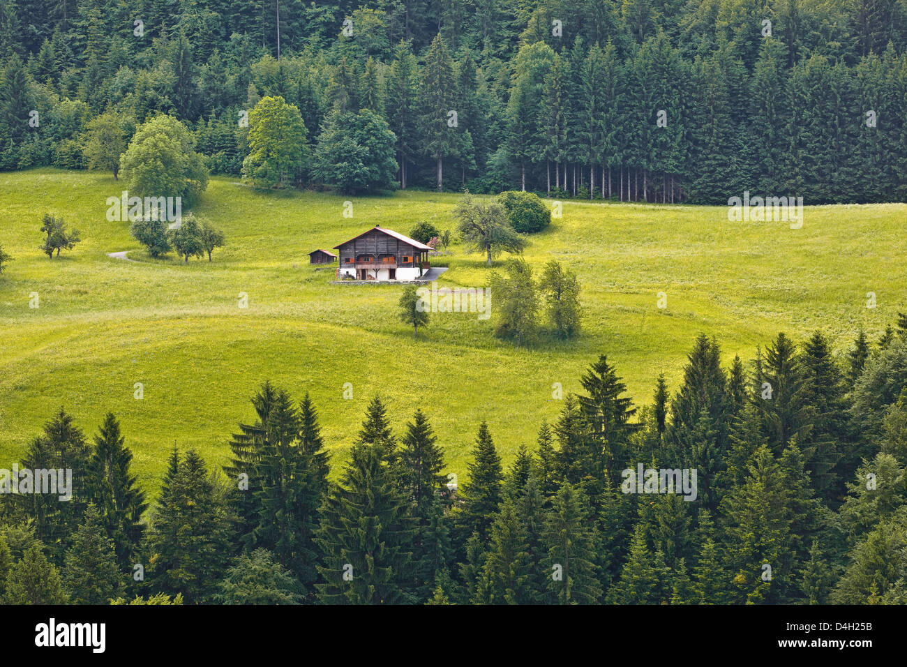 A typical house in the Haute-Savoie, France - Stock Image