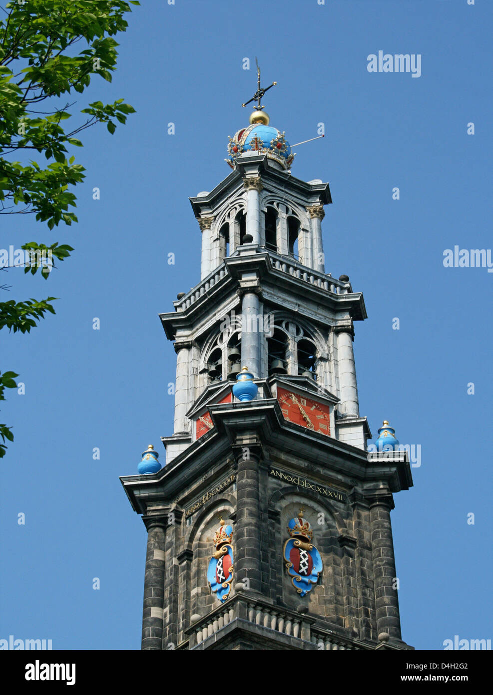 The Netherlands Holland Amsterdam Prinsengracht 279-281 Westerkerk Church Golden Age 1620-1631 Architect Hendrick - Stock Image