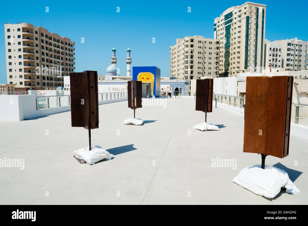 Acoustic installation called Silence Spins by Shiro Takatani on opening day of the 11th Sharjah Biennial Art festival - Stock Image
