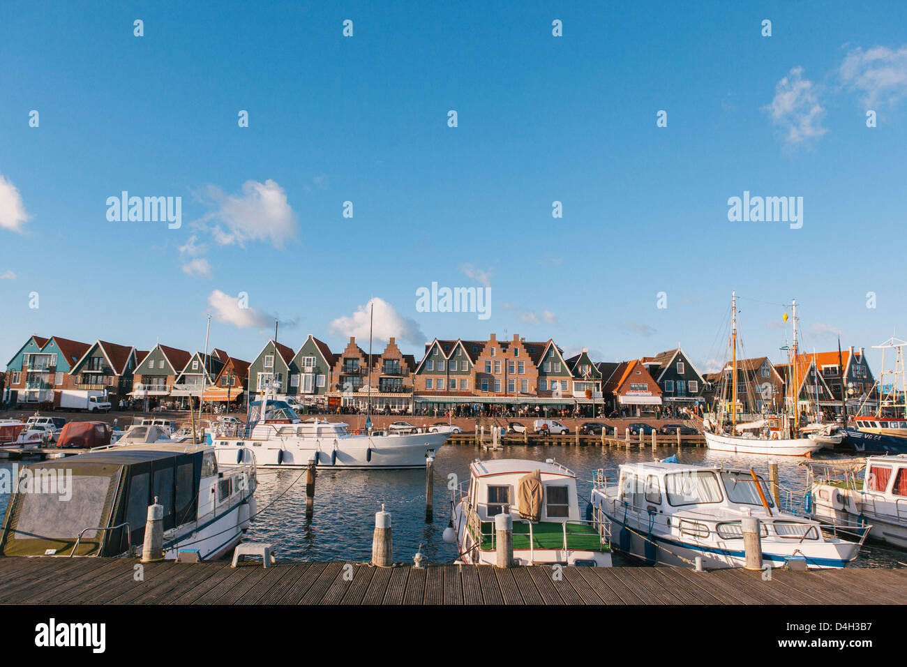 Volendam harbour, North Holland Province, The Netherlands (Holland) Stock Photo