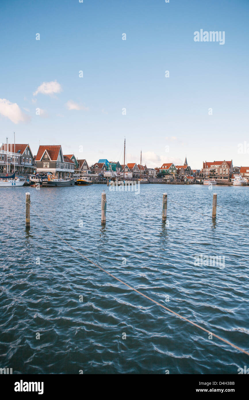 Volendam harbour, North Holland, The Netherlands (Holland) Stock Photo