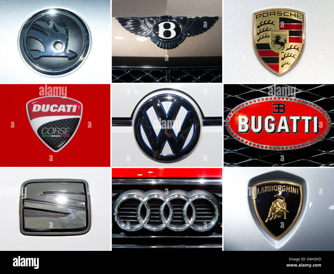 Combo The Composite Photo Shows The Logos Of The Volkswagen Stock