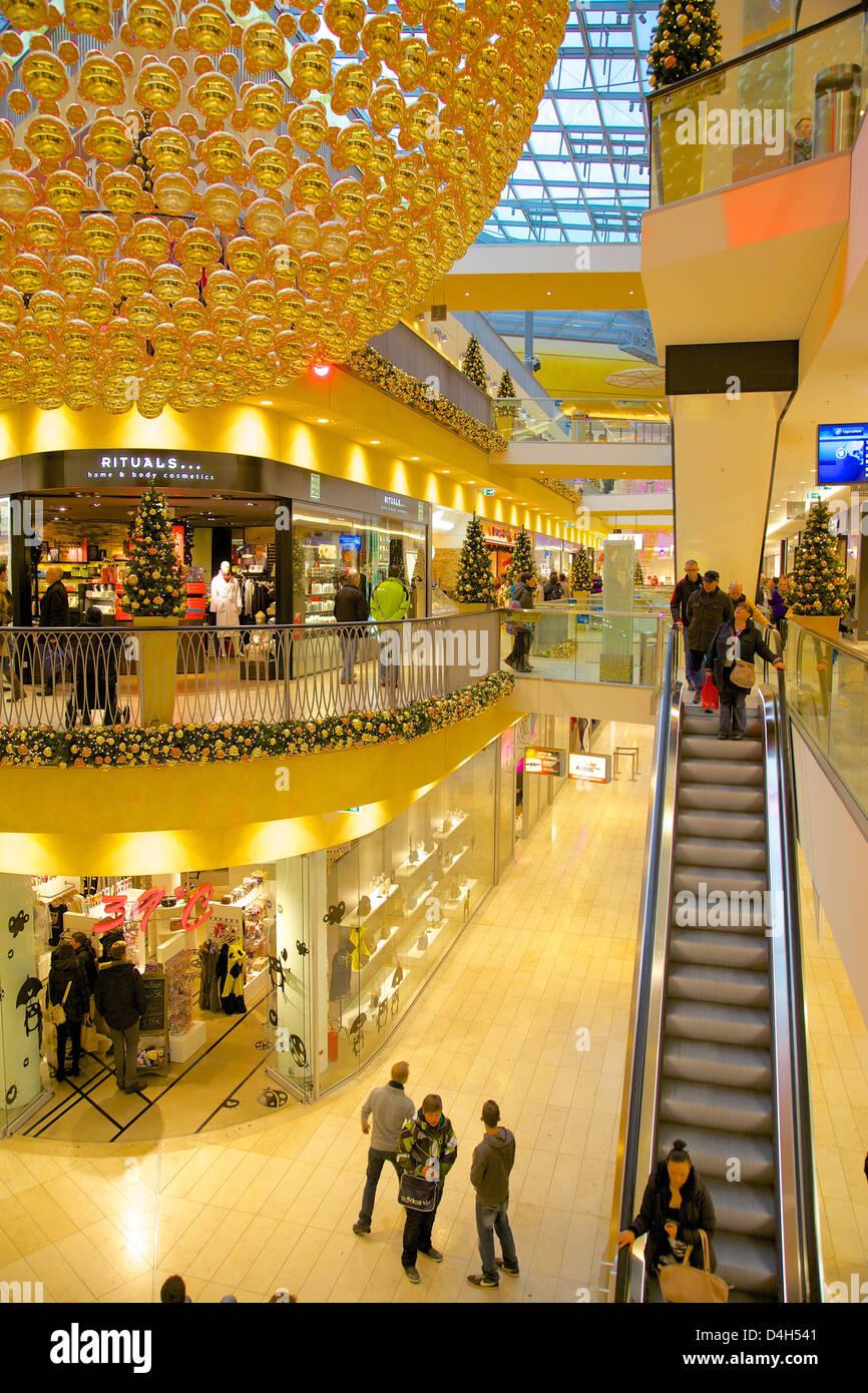 Thier Gallery, Shopping Centre at Christmas, Dortmund, North Rhine-Westphalia, Germany - Stock Image