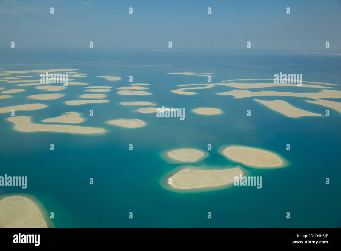View of The World from seaplane, Dubai, United Arab Emirates, Middle East - Stock Image