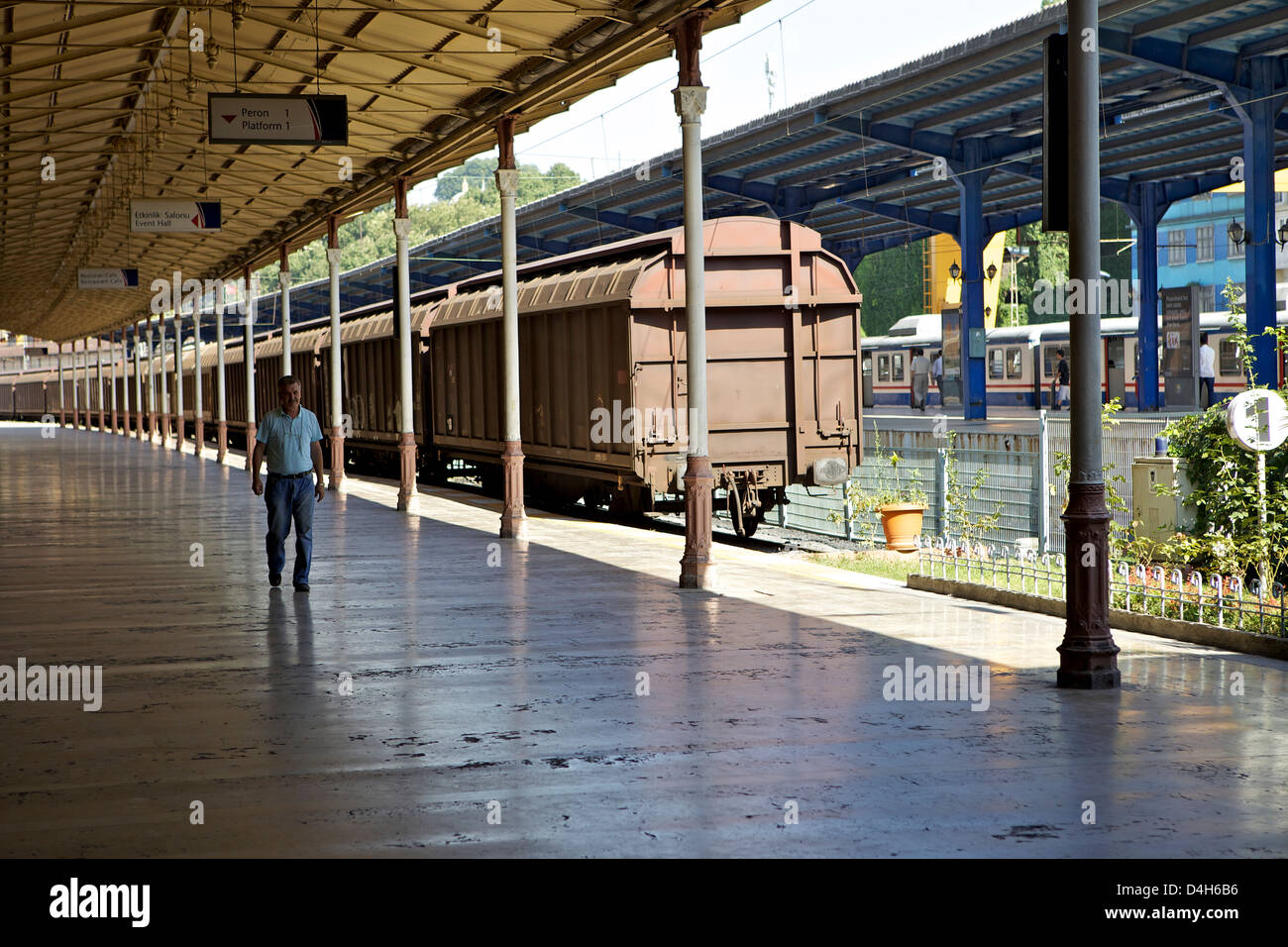 Sirkeci Gar (Central railway) railway station former terminal stop of the Orient Express, Istanbul, Turkey, Durasia - Stock Image