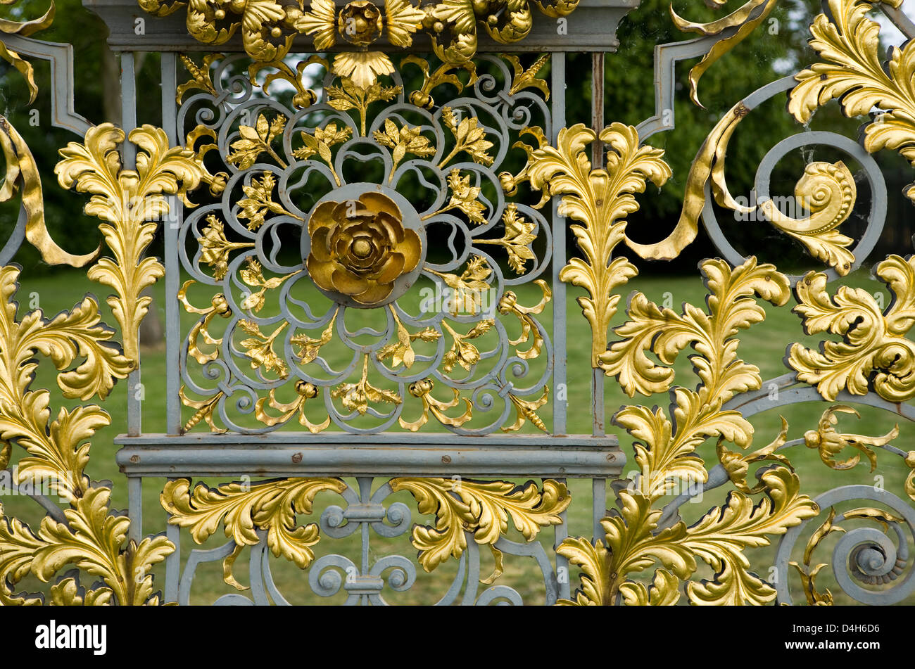 Decorative Wrought Iron Screen By Jean Tijou, Part Of Fence Around The  Privy Garden, Hampton Court Palace, Surrey, England