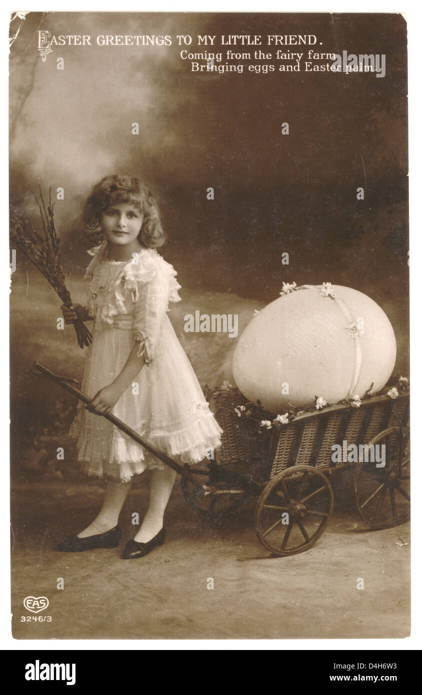Early 1900s Easter greetings postcard, posted 1911 U.K. - Stock Image