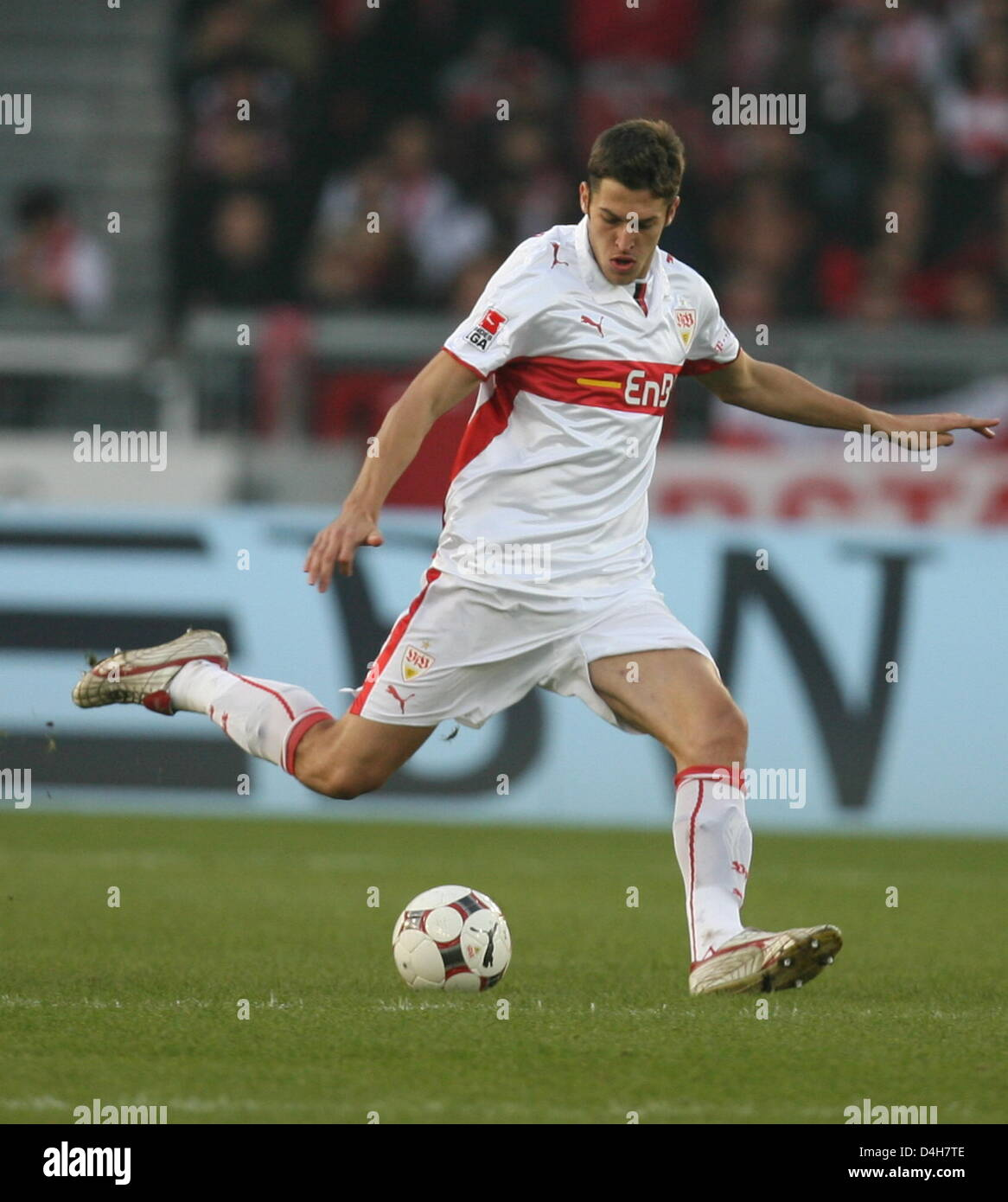 Stuttgart's French Matthieu Delpierre seen in action during the Stock Photo  - Alamy