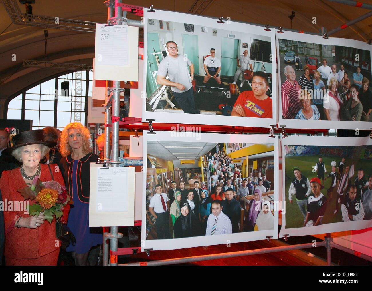 Dutch Queen Beatrix attends the presentation of the photo