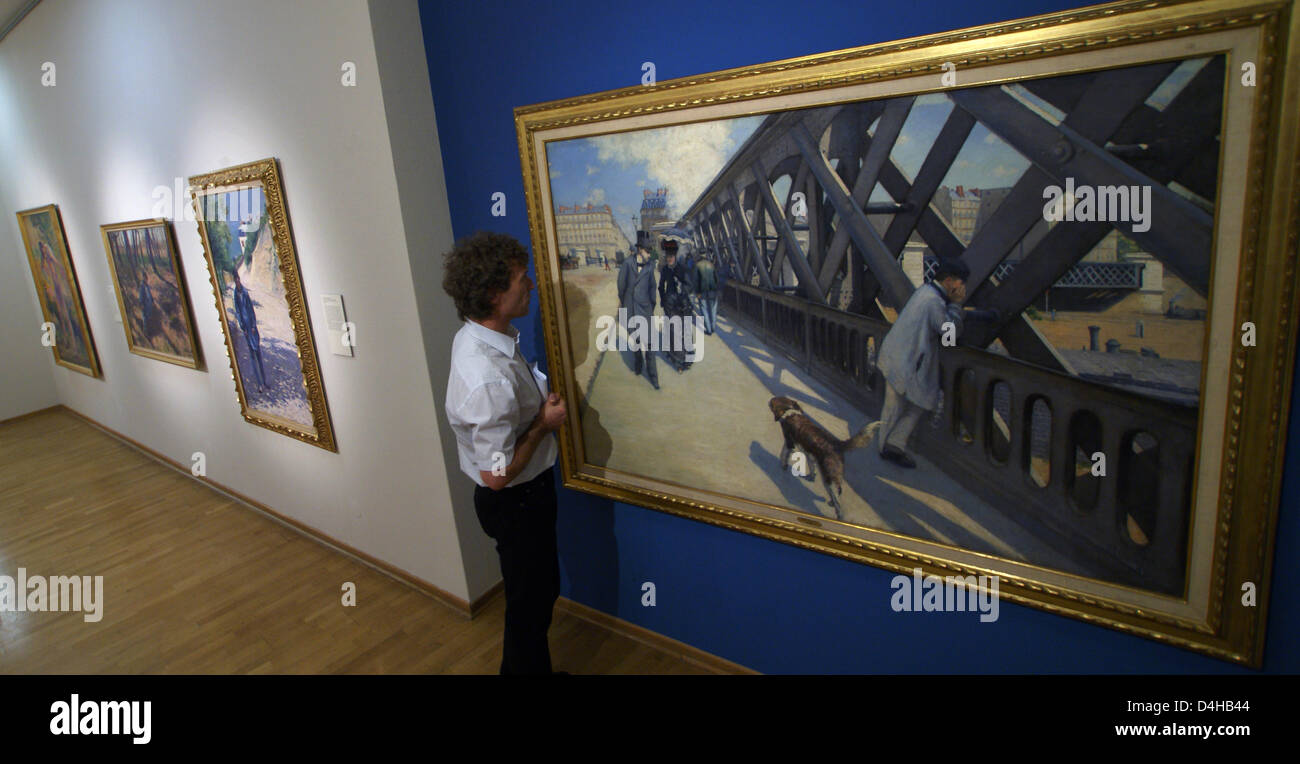 The picture shows a view of the special exhibition ?From Manet to Renoir? in which French paintings are displayed - Stock Image
