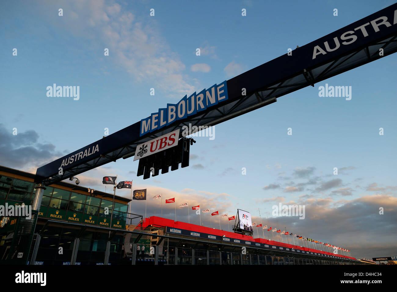 Melbourne, Australia. 14th March 2013. Motorsports: FIA Formula One World Championship 2013, Grand Prix of Australia, - Stock Image