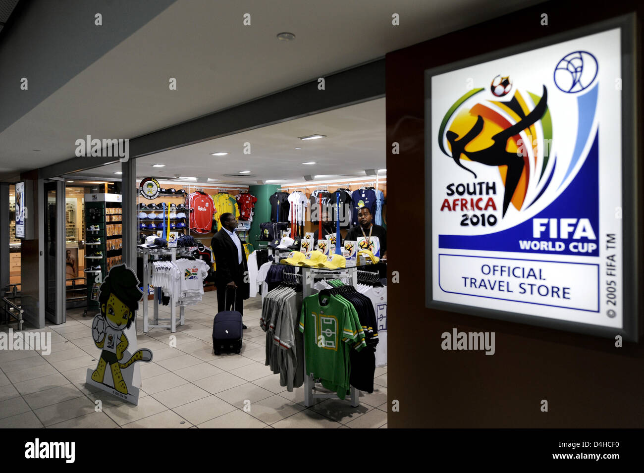 d7b5d2be3 View into an official merchandise store for the 2010 FIFA World Cup South  Africa in Durban