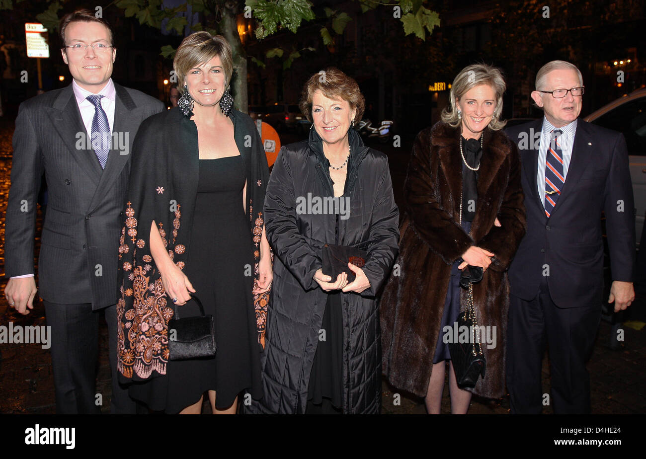 Dutch Prince Constantijn (L-R), his wife Princess Laurentien, Princess Margriet, Princess Astrid and her husband Stock Photo