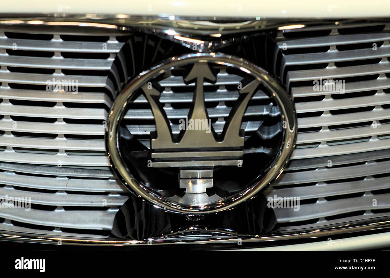 The Trident of the Italian car maker Maserati Stock Photo: 54473986
