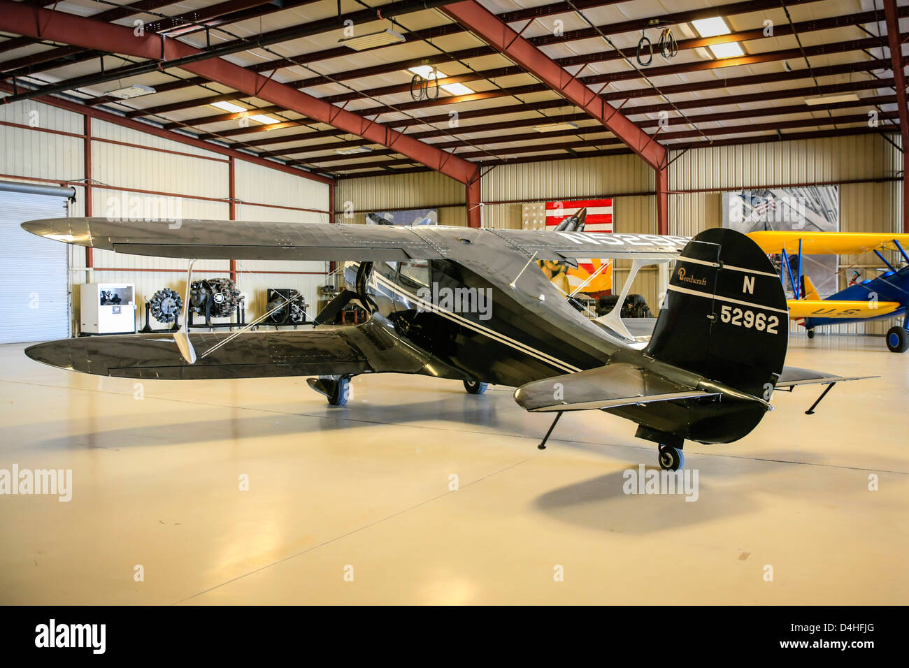 A 1944 Beech D17S plane at the Sun n Fun Florida Air Museum in Lakeland - Stock Image