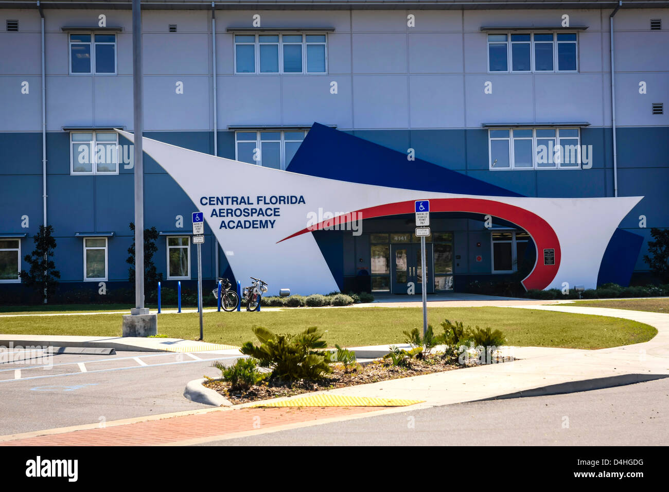 The Central Florida Aerospace Academy Building at Lakeland - Stock Image