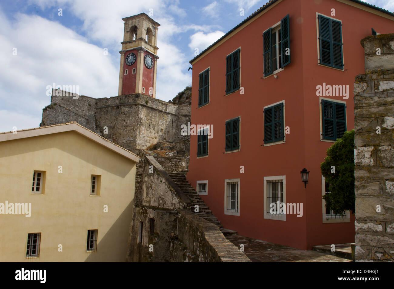 Inside the Kerkira fortress - Stock Image