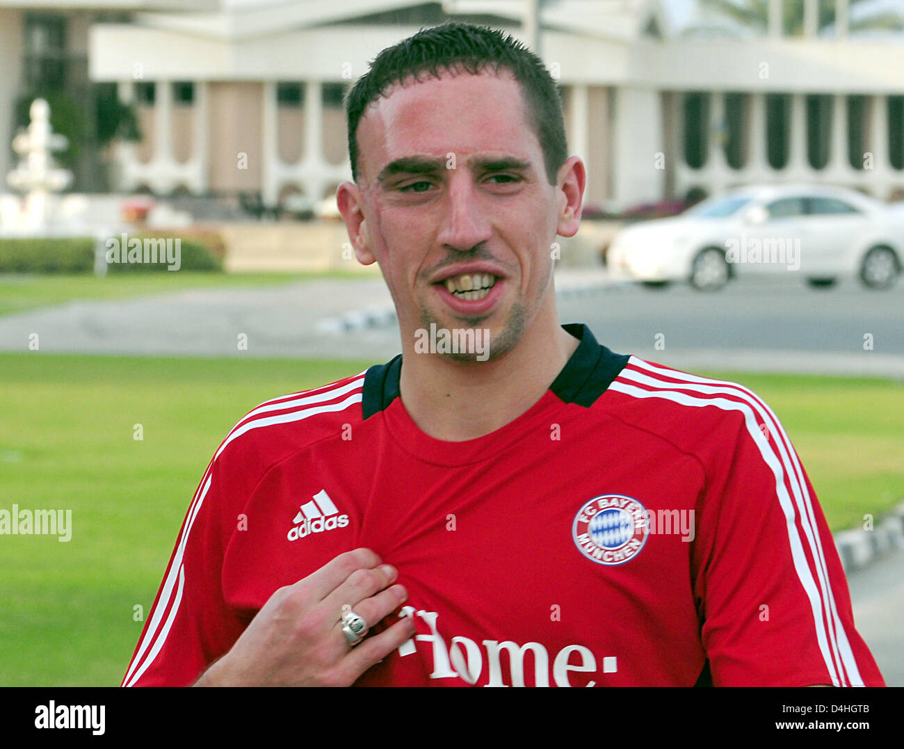 French Franck Ribery of Bundesliga club FC Bayern Munich is ...