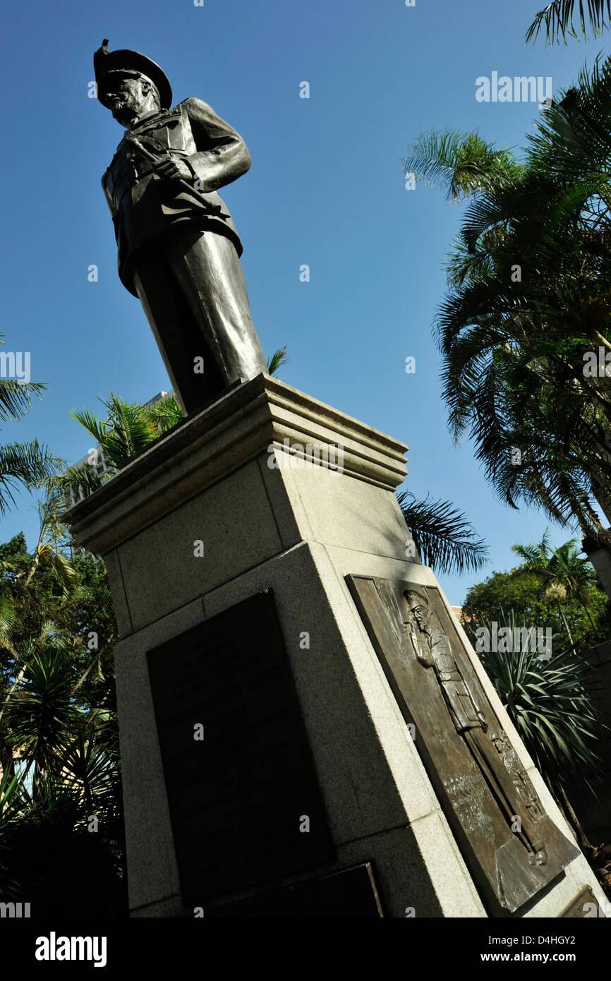 Durban, KwaZulu-Natal, South Africa, statue, General Jan Christiaan Smuts, soldier, statesman, politician, intellectual, - Stock Image
