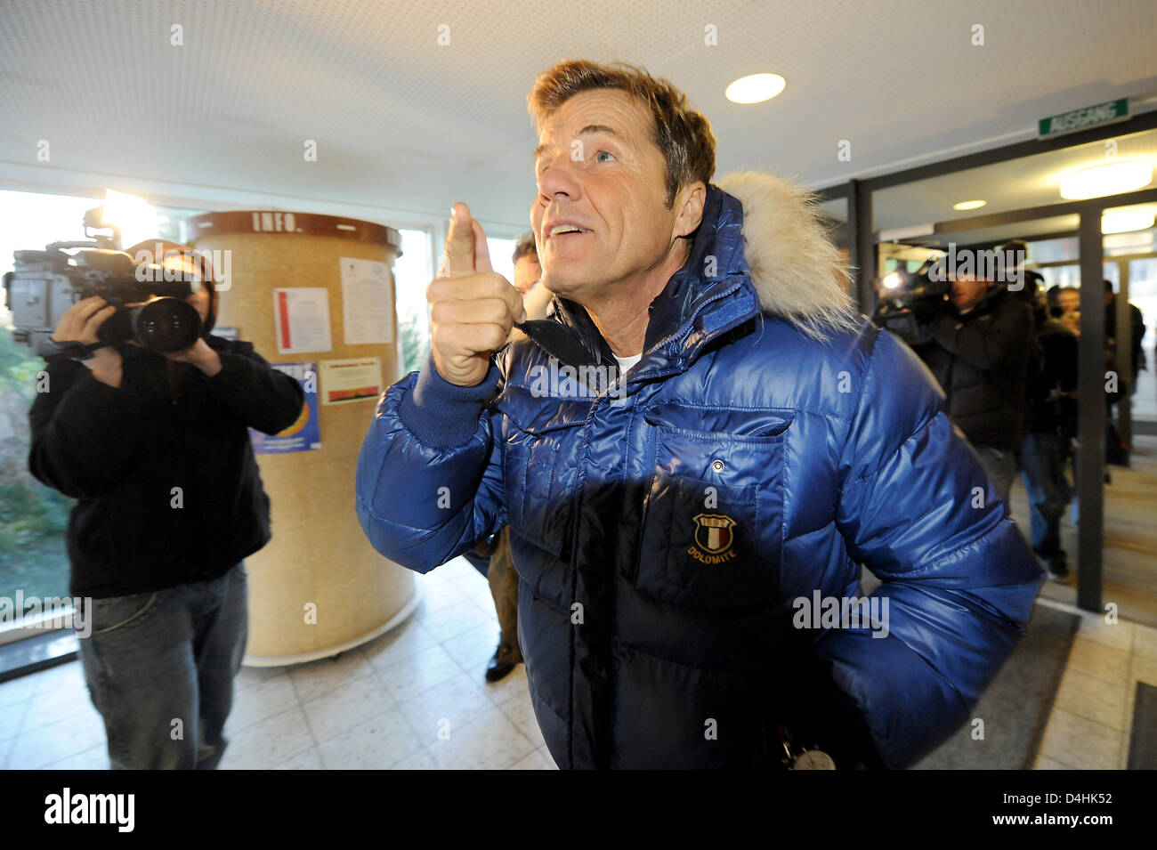 German music prodicer and tv presenter Dieter Bohlen arrives at the Regional Court in Luebeck, Germany, 19 January - Stock Image